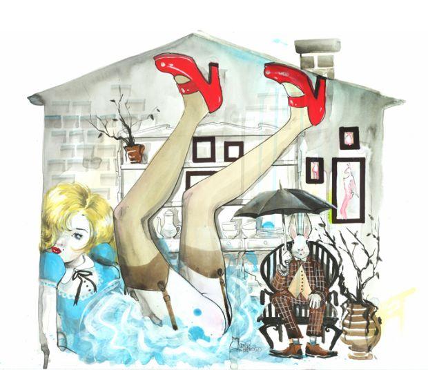 lora-zombie-pop-art-diseno-grunge-acuarela-pintura