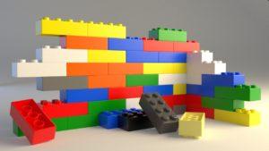 3 piezas lego