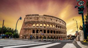 Atardecer en Piazza del Colosseo-viajes-roma-crea-cuervos