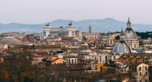 Roma desde el Castel Sant´Angelo