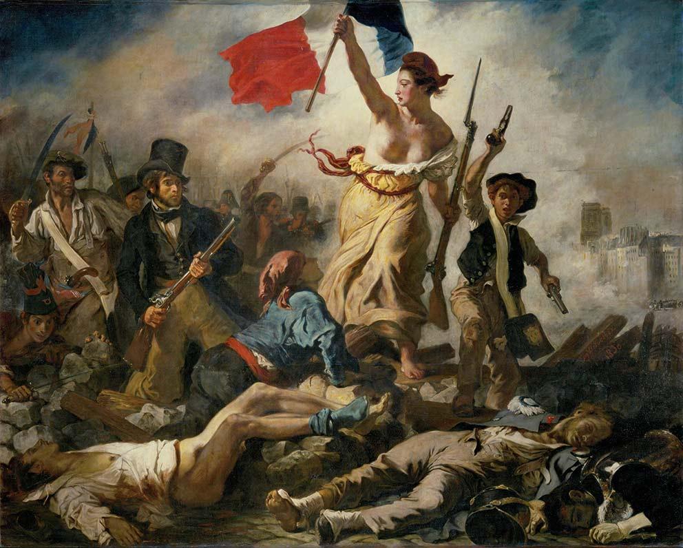 eugene-delacroix-la-libertad-guiando-al-pueblo-1830-muralismo