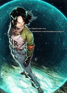 android 17 luis figueiredo art dragon ball