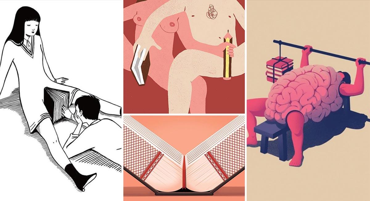recopilacion-de-ilustraciones-sobre-libros-y-lectura