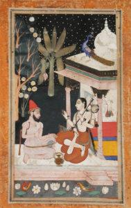 Fifth-Wife-of-Shri-Raga-Folio-from-a-Ragamala-Garland-of-Melodies-1675-1700-Drawings-LACMA