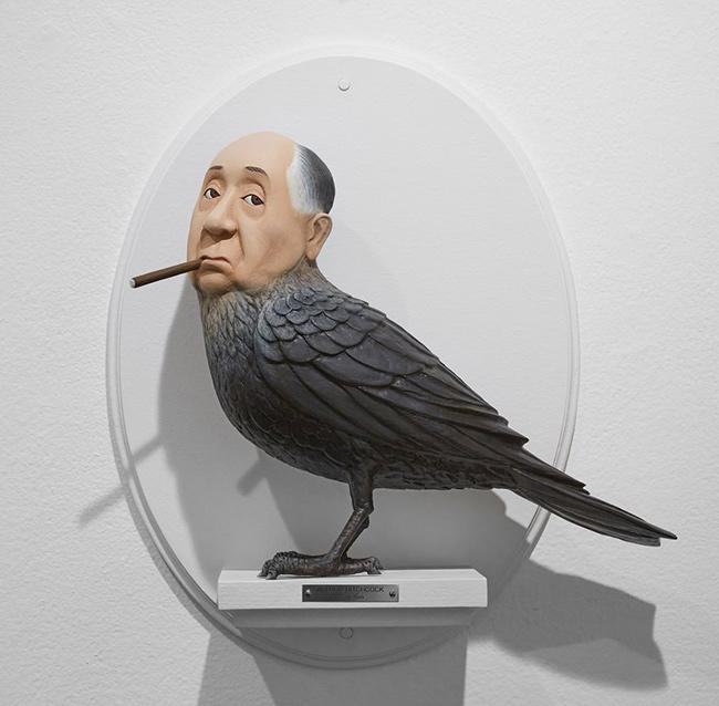 alfred-hitchcock-figuras-surrealistas-de-directores-famosos-de-mike-leavitt