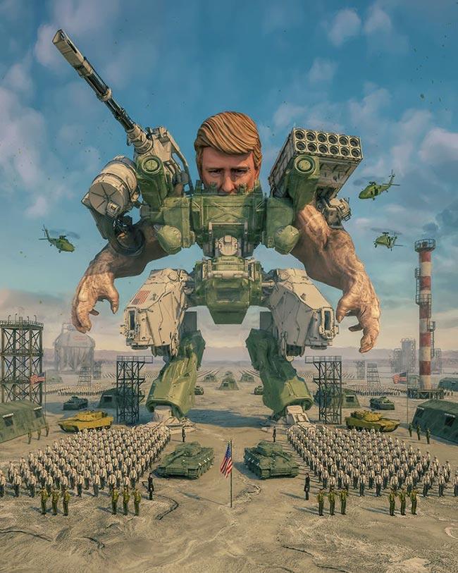 beeple-crap-y-sus-ilustraciones-de-donald-trump-kim-jong-un-y-hillary-clinton