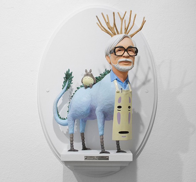 hayao-miyazaki-figuras-surrealistas-de-directores-famosos-de-mike-leavitt