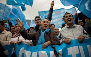 uyghur protest belgium ap img
