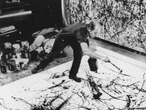 Pintando-Jackson Pollock-Pintor-Artista-Expresionismo Abstracto