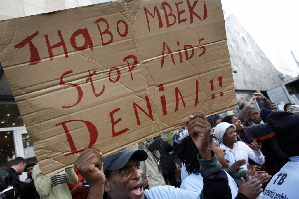 tac activist campaigns against thabo mbekis hiv stance cape town