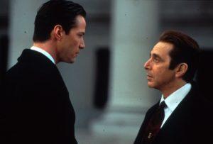 El abogado del diablo, Al Pacino, Keanu Reeves y Charlize Theron - Al y Keanu
