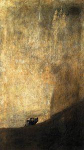 El perro semi-hundido-Francisco-de-Goya