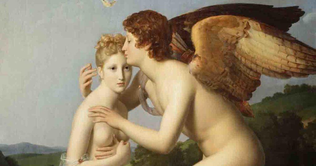 Gérard Eros y Psique 1798 miniatura