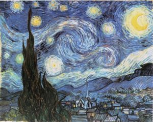 La noche estrellada-1889-Vincent-Van-Gogh-
