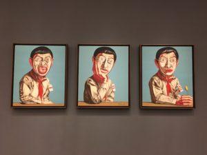 Zheng Fanzhi Mask Series no. 11, Triptych-1996-10 de los artistas contemporáneos chinos más sobresalientes