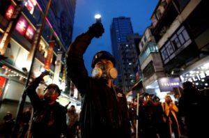 Fotografía_Hong_Kong_protestas_grupo_manifestantes