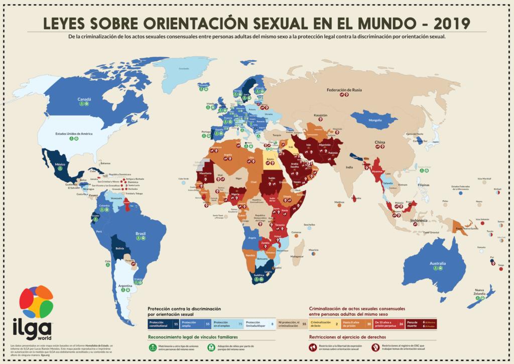 mapa leyes orientacion sexual