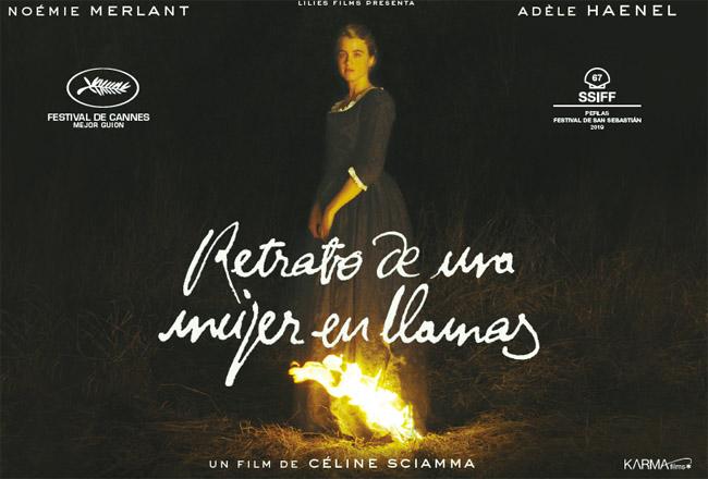 retrato de una muxer en llamas