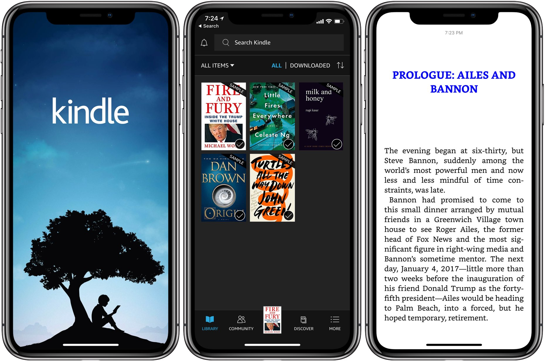 Amazon Kindle iPhone X