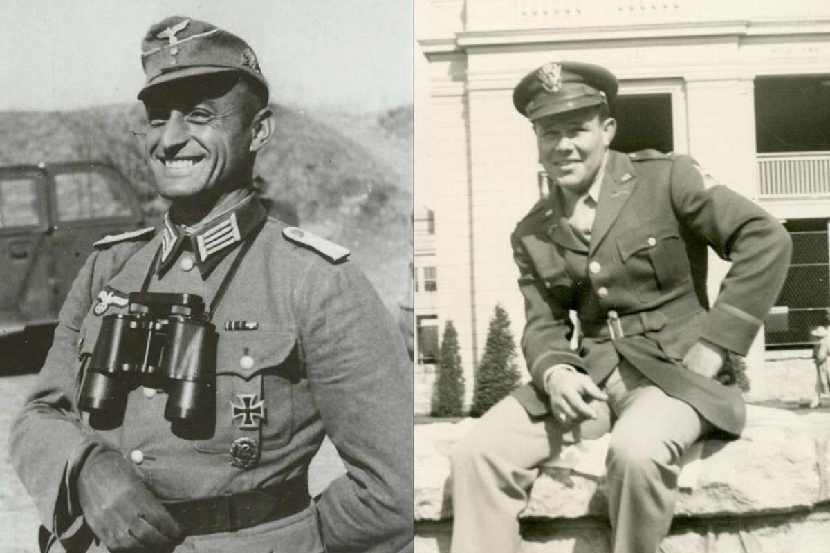 El Mayor Josef Gangl y el Capitán Jack C. Lee Jr.