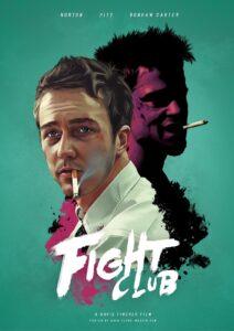 El club de la pelea - Brad Pitt, Edwar Norton 1999 - portada
