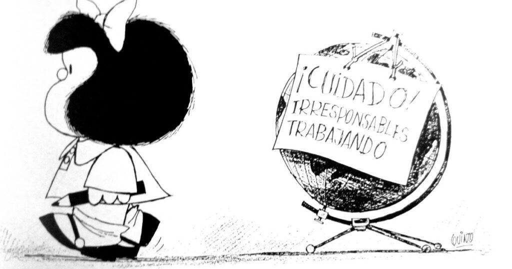 Mafalda Irresponsables Trabajando