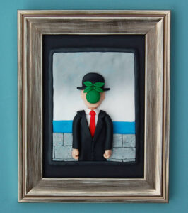 The-Son-of-Man-by-Clay-Disarray-rene-magritte