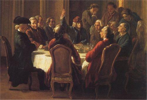 Un diner de philosophes by jean huber 1772