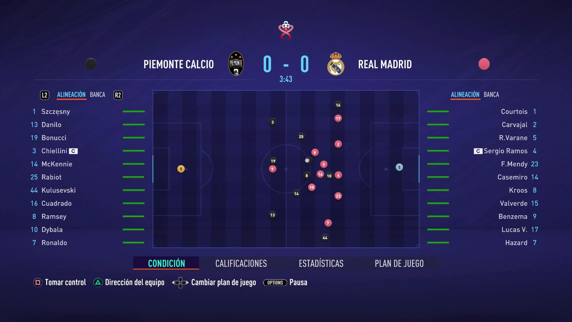 FIFA 21 Partido de Carrera 0 0 PIE RMA 1 er tiempo