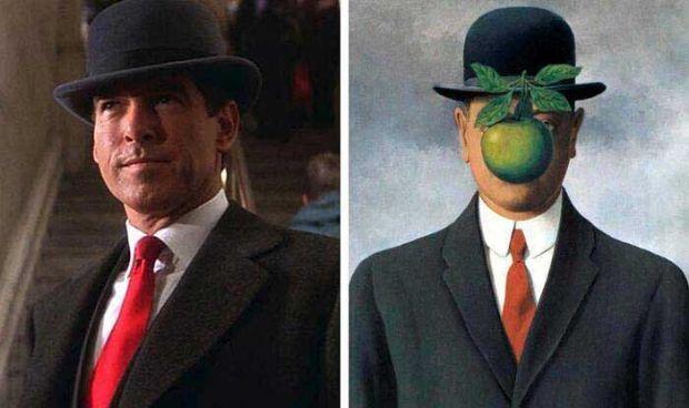 El hijo del hombre de René Magritte en El caso Thomas Crown de John Mctiernan