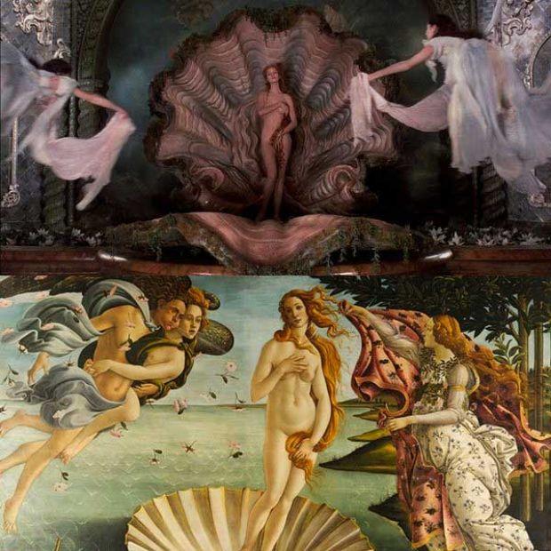 El nacimiento de Venus de Sandro Botticelli en Las Aventuras del Baron Munchausen de Terry Gilliam