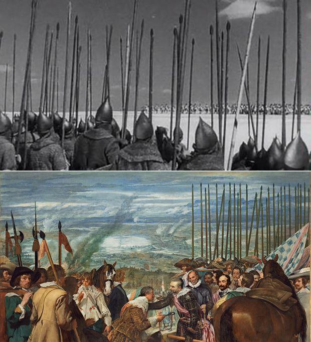 La Rendición de Breda, de Velázquez en Alexander Nevsky de Serguéi Eisenstein