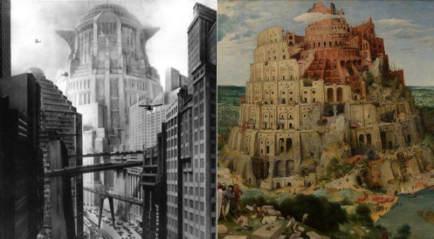 Torre de Babel de Brugel en Metrópolis de Fritz Lang