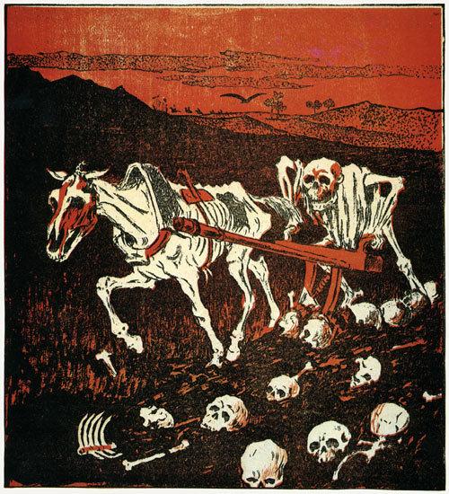 Boris Kustodiev in satirical Russian Magazines, 1905.