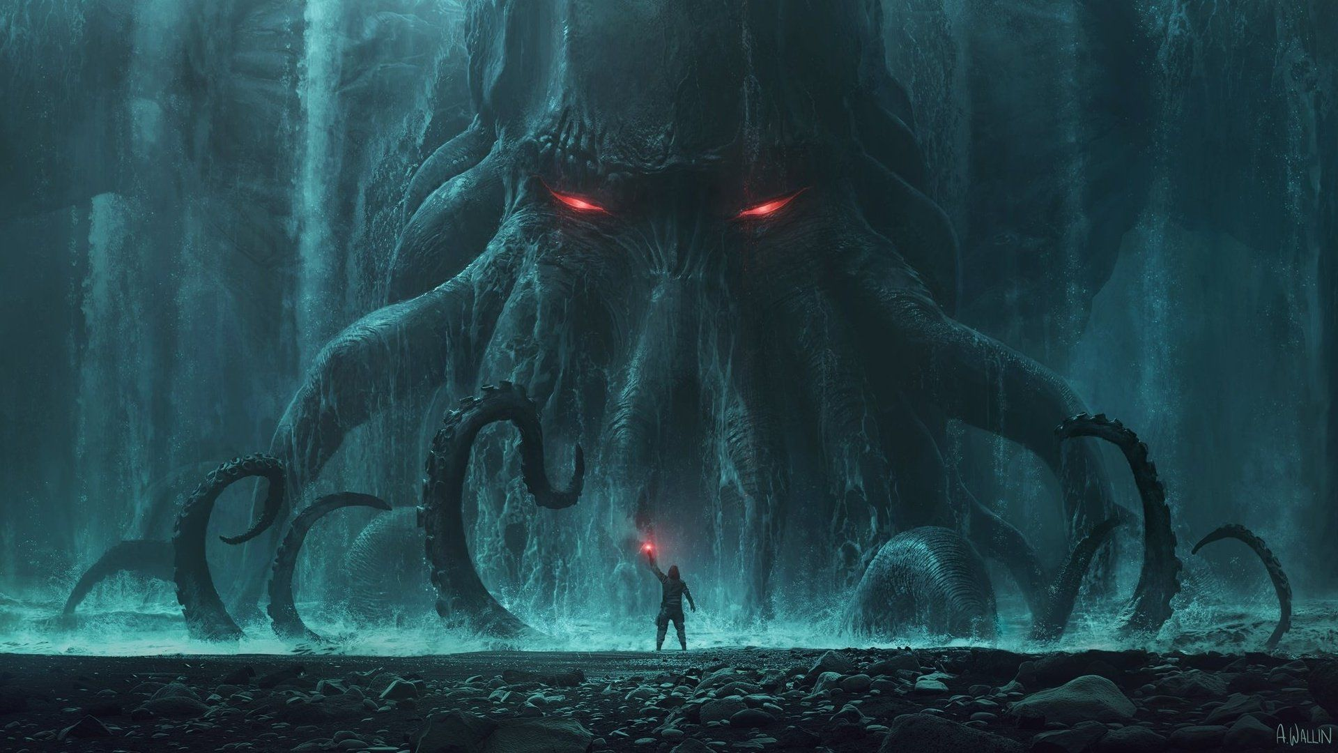 Cthulhu y la oscuridad que lo sigue, Recordando a las creaturas de H.P Lovecraft