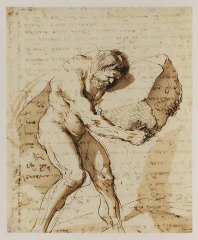 Sisifo Guercino Giovanni Francesco Barbieri Sisyphus 1636.