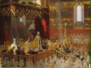 1200px Coronation of Nicholas II by L.Tuxen 1898 Hermitage
