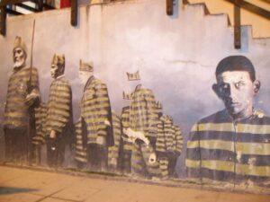 cayetano el hombre enamorado del fuego y la muerte Mural Santod Godino