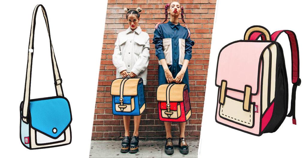 JumpFromPaper-dibujos-son-bolsos-mochilas